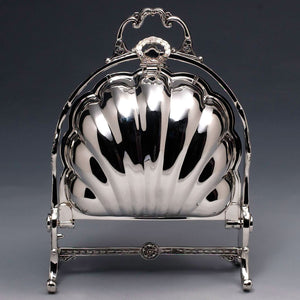 1883 F.B Rogers Silver Plated Bun Warmer Closed