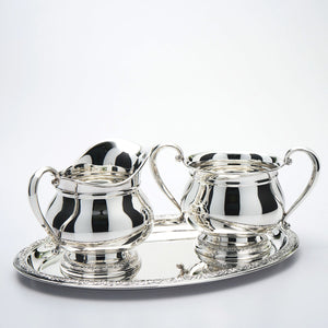 Prelude Sterling Sugar & Creamer with Tray