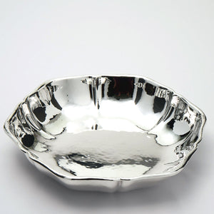 "Bowl measures 9"" diameter by 1 1/2"" high."