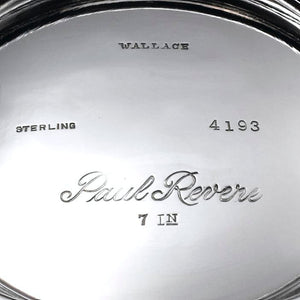 Wallace Silversmiths Sterling Revere Bowl Hallmark