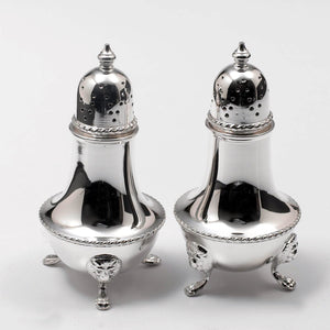 Silver Plate Salt & Pepper Shakers by Barker Bros