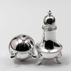 Silver Plate Salt & Pepper Shakers by Barker Bros Hallmark