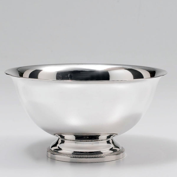 "5"" Revere Bowl Silver Plated w/ Beaded Border"
