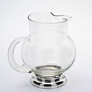 Wallace Glass & Sterling Juice Pitcher