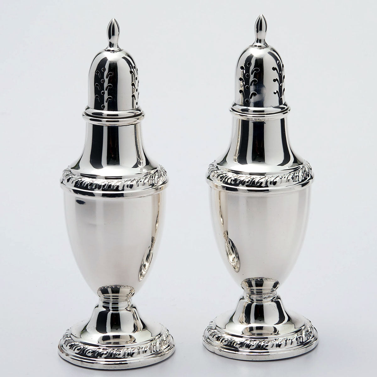 Rogers Sterling Silver Salt And Pepper Shakers Zapffe Silversmiths