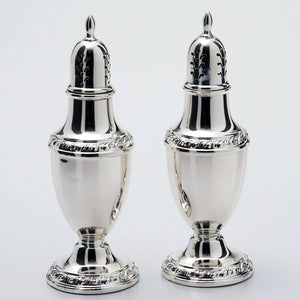 Rogers Sterling Silver Salt and Pepper Shakers