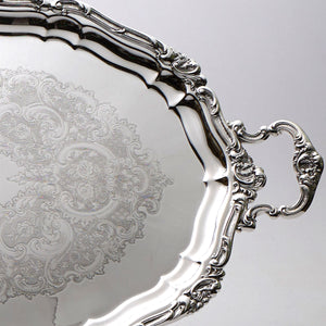 Gorham Silver Plated Oval Tray Border