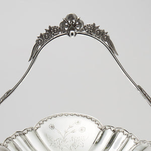 Pelton Bros & Co. Silver Plated Fruit Stand Alternate View of Handle