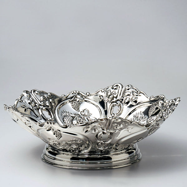 Pierced Sterling Silver Fruit Bowl