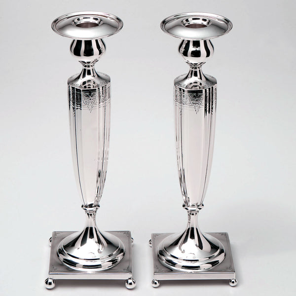 Frank M Whiting Sterling Candlesticks