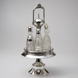 Wilcox Silver Plated Cruet Frame with Dinner Bell