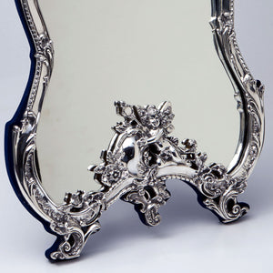 Sterling Silver Vanity Mirror Bottom detail