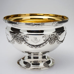 Sterling centerpiece bowl with 24 karat gold plated lining.