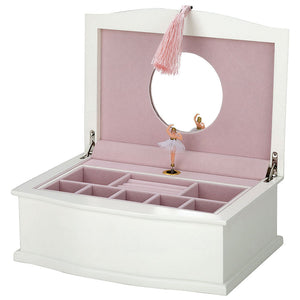 White ballerina jewelry box.