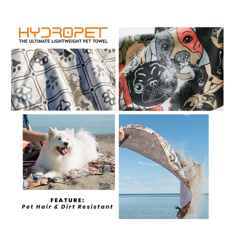 HydroPET - Hair & Dirt Resistant Green Towel