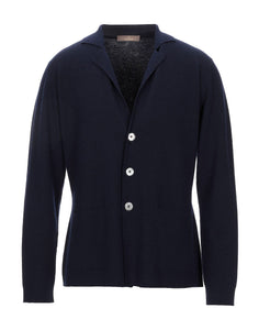 Cruciani Pure Cashmere Navy Blue Cardigan Blazer M (50) Made in Italy