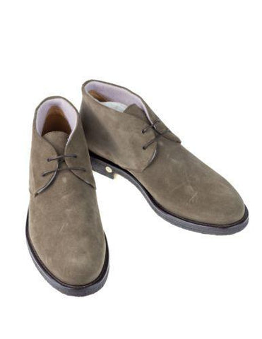 DI MELLA Napoli Cashmere Lined Suede Chukka Boot Shoes ~ Hand-made in Italy