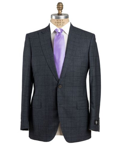 Belvest Blue Two-Button Wool Suit 40 (EU 50) Tailored in Italy