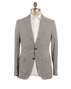 Belvest Seersucker Gingham Suit 40 (EU 50) Tailored in Italy