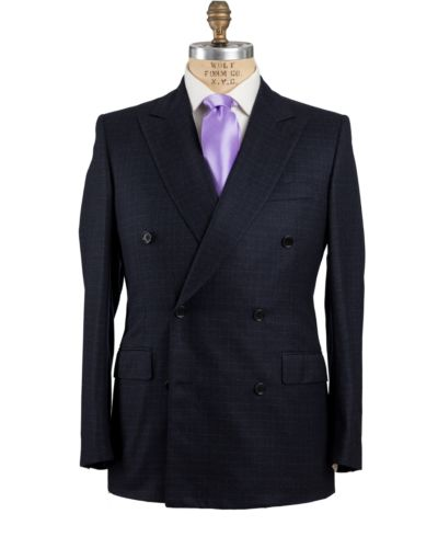 Belvest Super 120's Wool Navy Blue Suit 40 (EU 50) Tailored in Italy