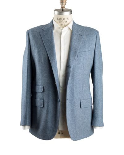 Belvest Wool~Cashmere Blue Sportcoat 46 (EU 56) Tailored in Italy