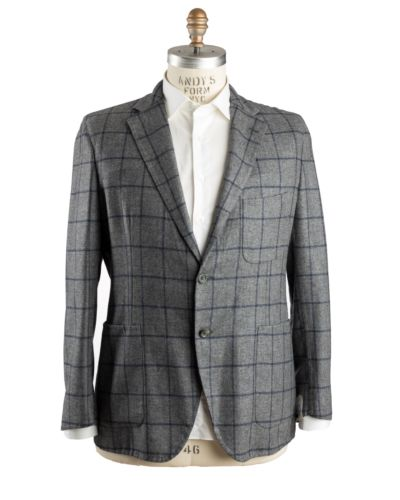 Belvest Wool~Cashmere Gray Sportcoat 46 (EU 56) Tailored in Italy