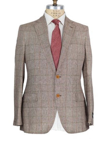 Belvest Two-Button Silk & Linen Suit 40 (EU 50) Tailored in Italy