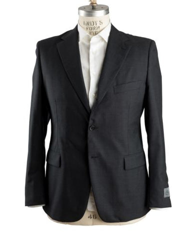 Belvest Charcoal Gray Wool Suit 46 (EU 56) Tailored in Italy