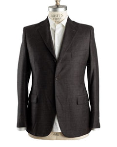 Belvest Super 130's Wool Brown Suit 44 (EU 54) Tailored in Italy