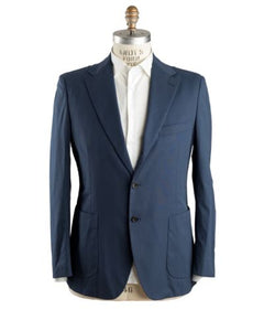 Belvest Blue Cotton Sportcoat 44 (EU 56) Tailored in Italy