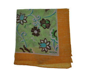 RODA Printed Linen Pocket Square Pochette ~ Made in Italy