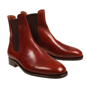 Silvano Lattanzi Cordovan Leather Boot Shoes 9 (EUR 8) Hand-made in Italy
