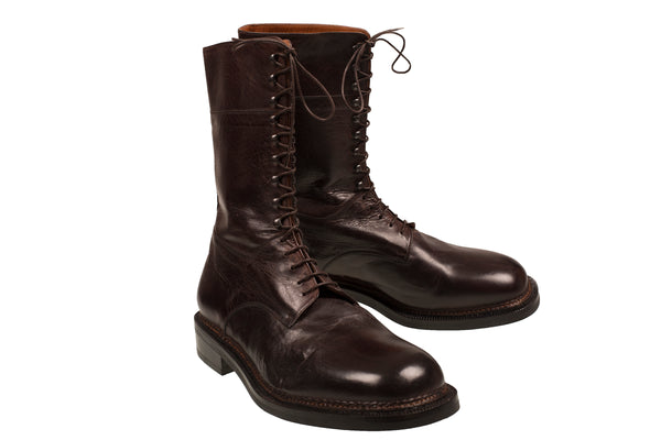 Silvano Lattanzi Leather Boot Shoes 10.5 (EUR 9.5) Hand-made in Italy