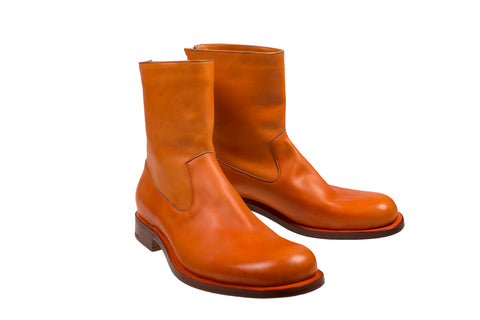 Silvano Lattanzi Leather Boot Shoes 10 (EUR 9) Hand-made in Italy
