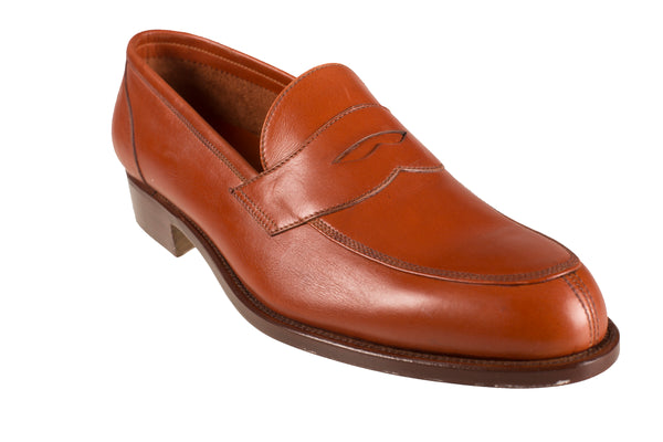 Silvano Lattanzi Leather Loafer Shoes 9 (EUR 8) Hand-made in Italy