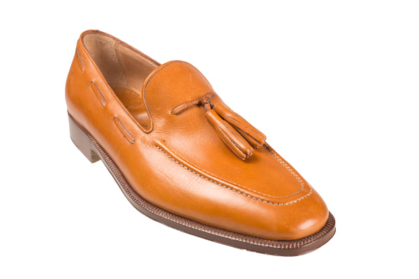 Silvano Lattanzi Leather Loafer Shoes 8.5 (EUR 7.5) Hand-made in Italy