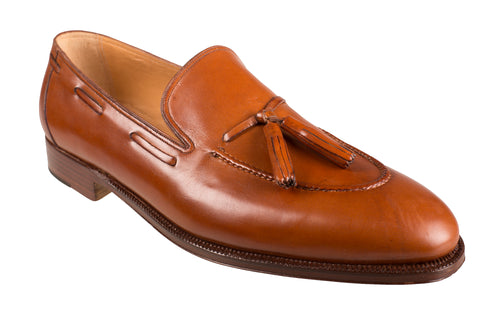 Silvano Lattanzi Leather Loafer Shoes 11.5 (EUR 10.5) Hand-made in Italy