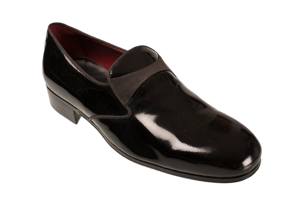 Silvano Lattanzi Leather Slip-On Tux Shoes 9 (EUR 8) Hand-made in Italy