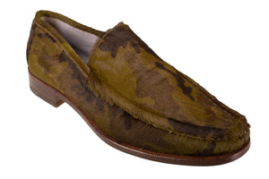 Silvano Lattanzi Pony Hair Loafer Shoes 9.5 (EUR 8.5) Hand-made in Italy