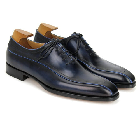 BERLUTI Vertigo Capri Blue Venezia Shoes 12.5 (EU 12) Made in Italy