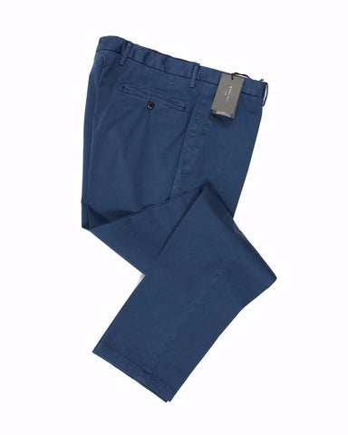BOGLIOLI Blue Slim-Fit Stretch Cotton Pants ~ Made in Italy