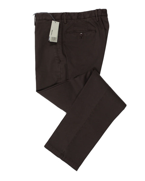 BOGLIOLI Brown Slim-Fit Stretch Cotton Pants 30 (EU 46) Made in Italy