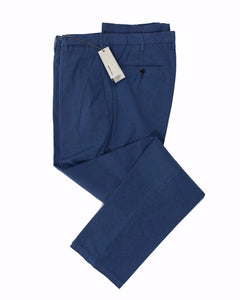 BOGLIOLI Tartessal Blue Slim-Fit Stretch Cotton Pants ~ Made in Italy