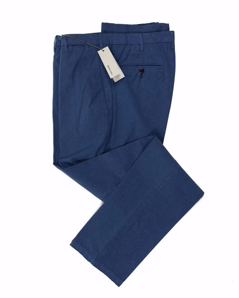 BOGLIOLI Tartessal Blue Slim-Fit Stretch Cotton Pants 34 (EU 50) Made in Italy