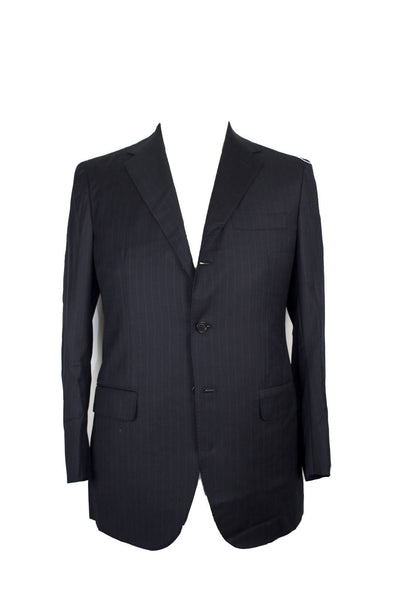 SARTORIO Napoli by Kiton Superfine Wool Suit 42 (52) Handmade in Italy