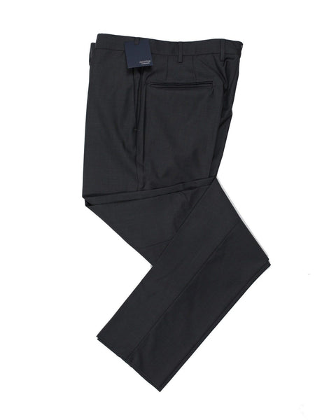 INCOTEX Superfine Wool Charcoal Gray Dress Pants ~ European Fit