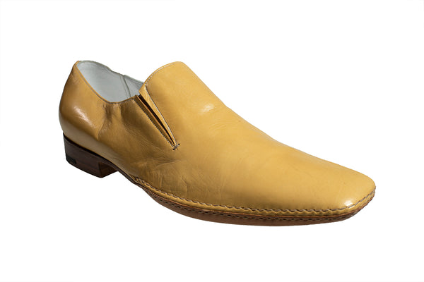 Silvano Lattanzi Leather Loafer Shoes 10.5 (EUR 9.5) Hand-made in Italy