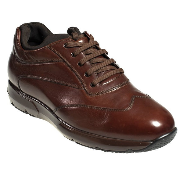 Silvano Lattanzi Brown Leather Sneakers 9.5 Hand-made in Italy