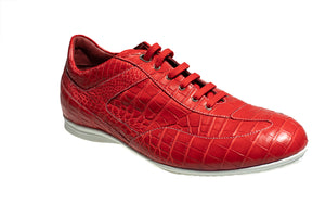 Stefano Ricci Genuine Crocodile Sneakers Shoes 10 (EU 9) Hand-made in Italy