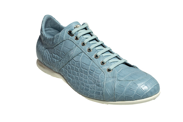 Stefano Ricci Genuine Crocodile Sneakers Shoes 9.5 (EU 9) Hand-made in Italy